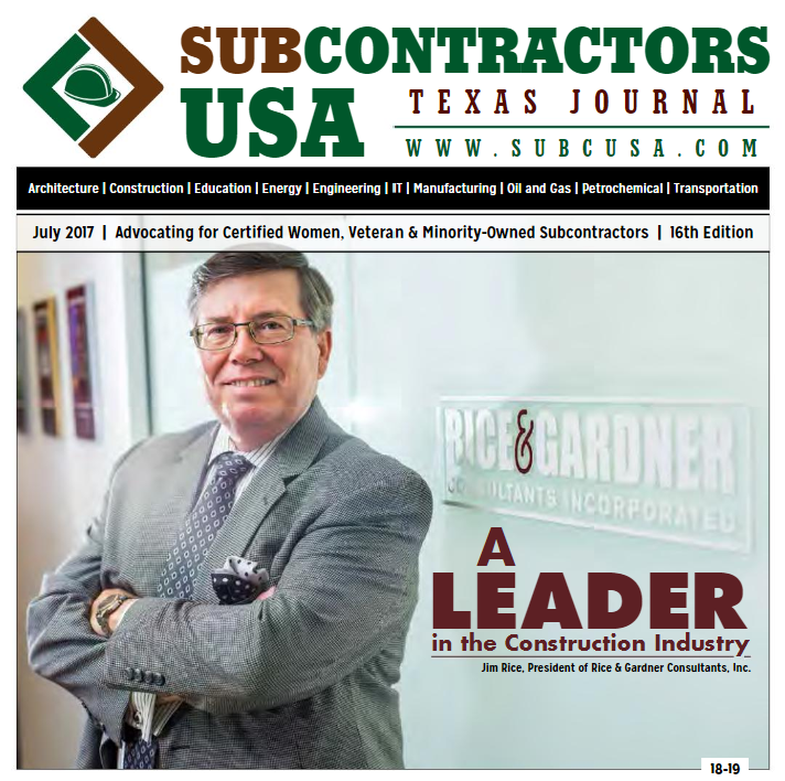 Rice & Gardner Consultants Inc in Subcontractors USA